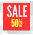 Sale banner on low poly background with typography vector image vector image