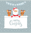 santa and deers vector image