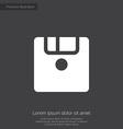 save premium icon white on dark background vector image vector image
