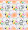 seamless pattern with easter eggs happy easter vector image vector image