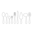 Set of thin line icons cutlery vector image vector image