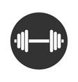 sign dumbbell vector image vector image