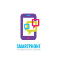 smartphone logo template mobile phone vector image vector image