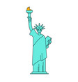 statue of liberty linear style landmark america vector image