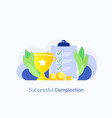 successful complection concept vector image vector image