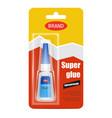 super fix glue tube realistic vector image vector image