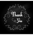 Thank you design vector image
