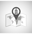 travel concept location map hotel pin design vector image vector image