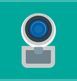 web camera front view icon digital technology vector image vector image