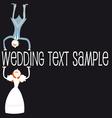 wedding cartoon couple vector image vector image