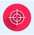 white line target sport icon isolated with long vector image vector image