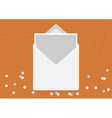 White Opened Blank Envelope letter with greeting vector image vector image