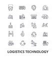 logistics technology transport supply chain vector image