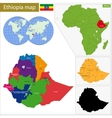 Ethiopia map vector image