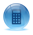 3D glass sphere and calculator icon vector image vector image