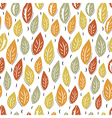Autumn abstract leaves seamless pattern background vector image vector image
