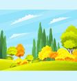 autumn forest beautiful landscape with orange vector image