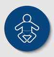 baby sign white contour icon vector image vector image
