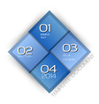 business four squares blue with text vector image