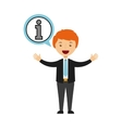 business person talking isolated icon design vector image