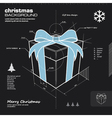 Christmas gift box infographic design vector image