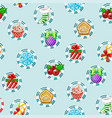 christmas holiday seamless pattern with happy new vector image