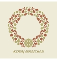 Christmas wreath in retro style vector image vector image