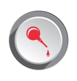 Clyster enema icon Medical tool symbol Red vector image