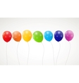 Color glossy rainbow balloons background