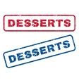 Desserts Rubber Stamps vector image vector image