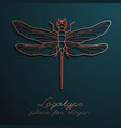 dragonfly logo design eps10 vector image