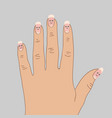 dystrophic ridges on the nails vector image vector image