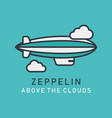 flat image zeppelin in lineart style vector image vector image