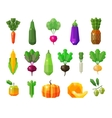 food vegetables and fruits set icons vector image vector image