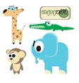 Funny Animal Icon Set vector image vector image
