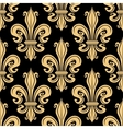 Golden french fleur-de-lis seamless pattern vector image vector image