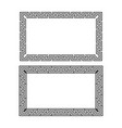 greek decorative frame vector image vector image