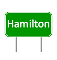 Hamilton road sign vector image vector image