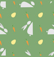 happy easter print seamless pattern with bunnies vector image