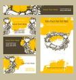 Happy Thanksgiving Day Invitation cards vector image vector image