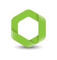 hexagon logo concept vector image vector image