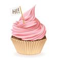 Hi Cupcake vector image vector image