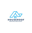 house home roof mortgage real estate ribbon logo vector image vector image
