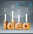 idea business infographics origami style vector image