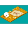 Isometric Pirate Treasure Adventure Game RPG Map vector image