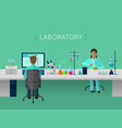 Laboratory flat concept vector image