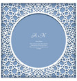 lace frame with cutout paper pattern vector image vector image