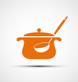 Logo pan with a ladle vector image