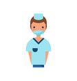 male doctor character wearing medical mask vector image