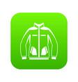 men winter jacket icon digital green vector image